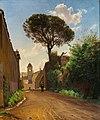 C.A. Kølle, Via San Nicola di Tolentino i Rom, 1871, 0091NMK, Nivaagaards Malerisamling.jpg
