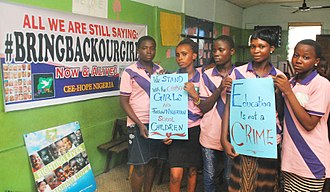 Chibok schoolgirls kidnapping - CEE-HOPE Nigerian organized an event to commemorate one year anniversary of bring back our girls