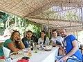CEE WikiCamp 2015, Matka Canyon, Wikimedians from Serbia and Albania.JPG