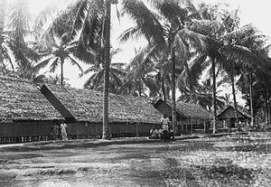 Mengwi - Barracks in Mengwi in 1949