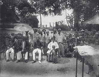 Ambonese - A portrait of the King and his entourage in Ambon, Maluku, between 1890 and 1915.