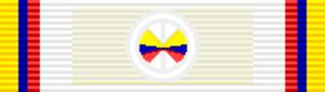 Order of Health Merit Jose Fernandez Madrid - Image: COL Gran Cruz Orden del Mérito Sanitario José Fernández Madrid cinta