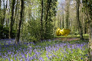 Cass Sculpture Foundation - Image: CSF Cragg Declination bluebells 1