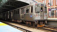 CTA Purple Line train at Davis station.jpg