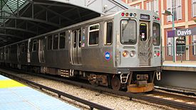 CTA Purple Line train at Davis station.jpg