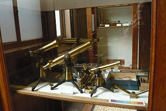 Carl August von Steinheil - Reading telescopes by C.A. Steinheil purchased in 1865 on display in the Teylers Instrument Room