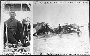 Calbraith Perry Rodgers - Rodgers in 1912 fatal crash