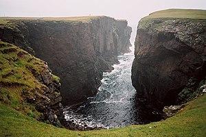 Geo (landform) - Calder's Geo, Shetland