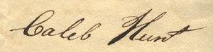 Monongahela and Ohio Steam Boat Company - Image: Caleb Hunt signature