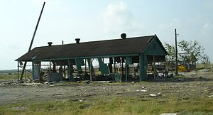 Cameron, Louisiana - Damage in Cameron from Hurricane Rita (photo taken in April 2006)