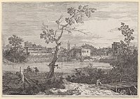 Canaletto, View of a Town on a River Bank, c. 1735-1746, NGA 757.jpg