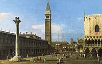 Canaletto (Venice 1697-Venice 1768) - Venice, The Piazzetta Towards The Torre dell' Orologio - RCIN 400515 - Royal Collection.jpg