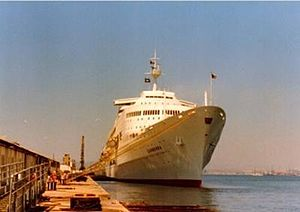 SS Canberra - Image: Canberra 1980