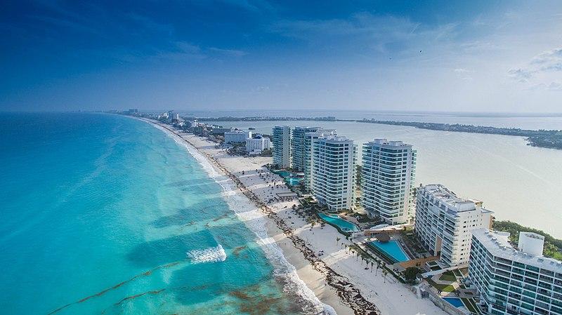 Praias lindas de Cancún