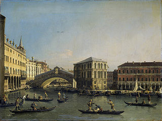 The Grand Canal with the Rialto Bridge and the Fondaco dei Tedeschi