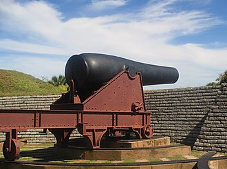 Fort Moultrie - Cannon displayed at Fort Moultrie