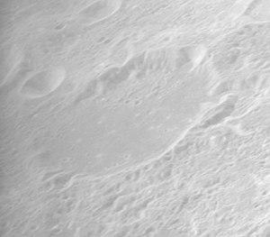 Cannon (crater) - Oblique Apollo 16 image