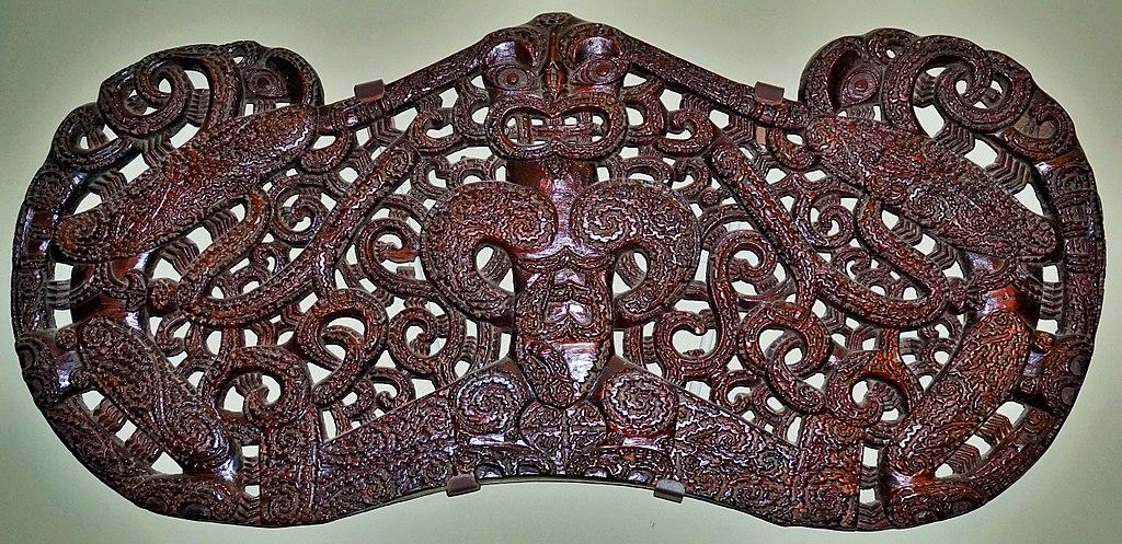 Maori Pare - Lintel from a Maori Meeting House