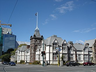 Canterbury Provincial Council Buildings - View along Armagh Street