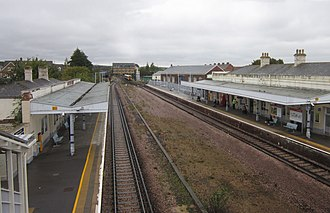 Canterbury West railway station - The platforms, viewed from the passenger bridge