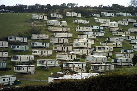 A caravan park at Beer, in South Devon, England Caravan Park Beer South Devon - geograph.org.uk - 42771.jpg