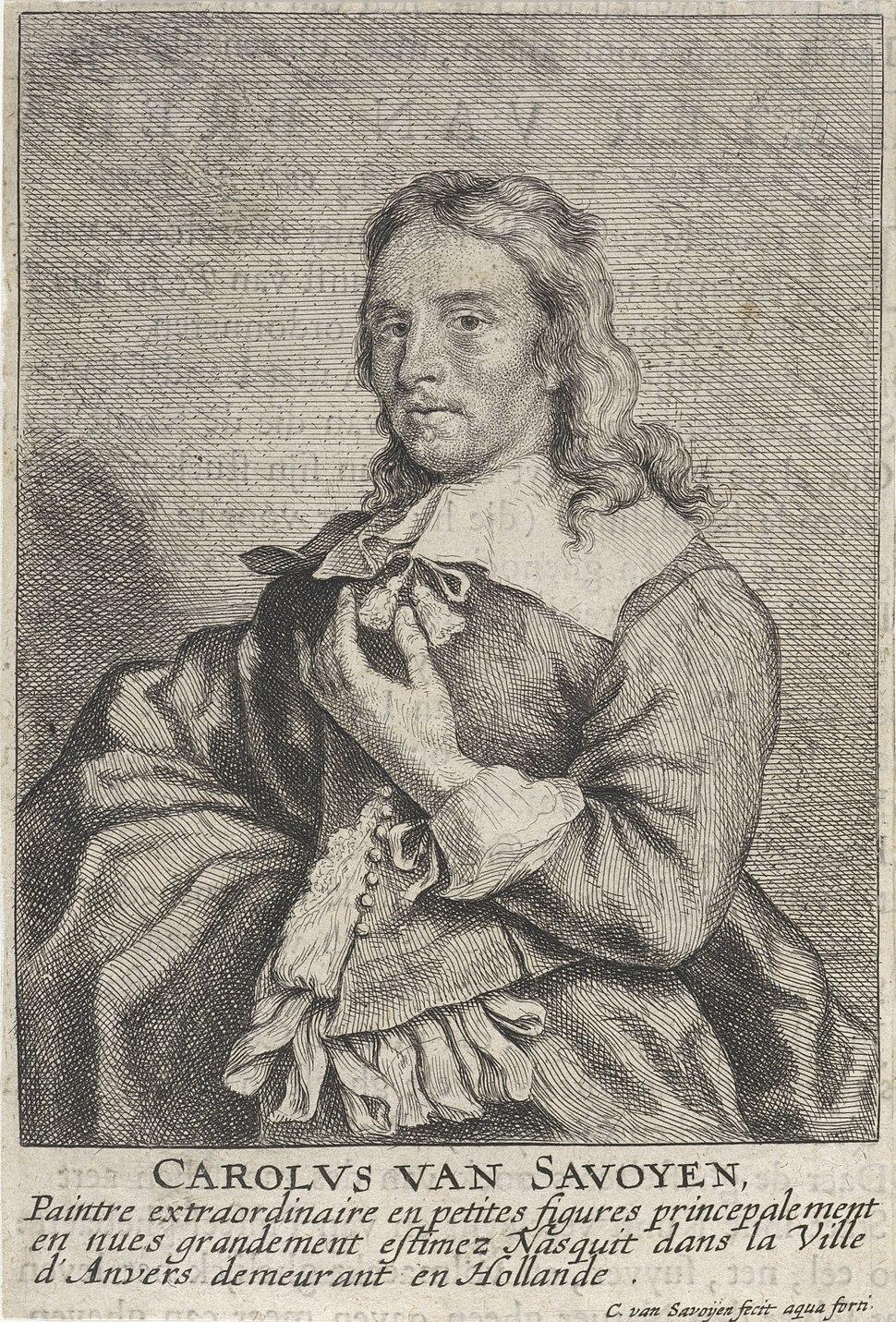 Carel van Savoyen - Self-portrait