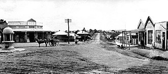 Carlingford, New South Wales - Looking north along Pennant Hills Road from Church Street (now Marsden Road), Mobbs Hill, Carlingford c.1912