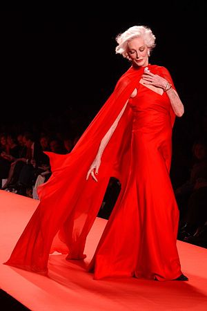 Carmen Dell'Orefice - Dell'Orefice in the 2005 Red Dress Collection show for The Heart Truth