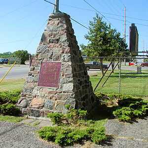 Carrying Place, Ontario - Cairn marking the NHS of Carrying Place