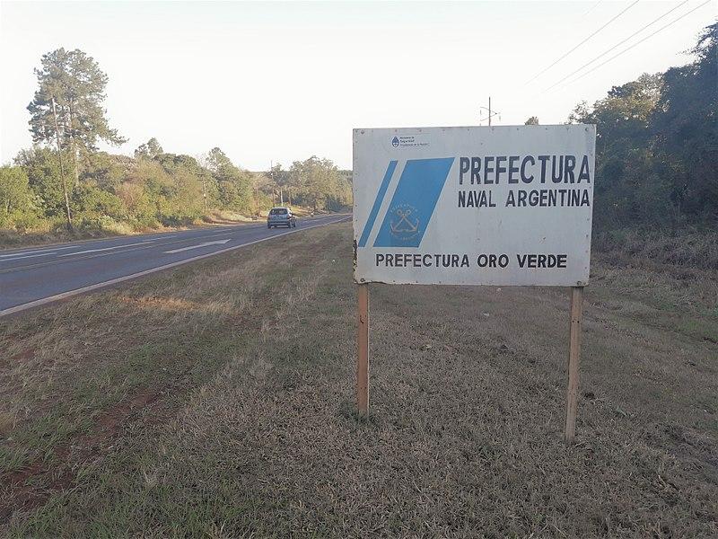 File:Cartel Puerto Rico (Provincia de Misiones, Argentina) - Prefectura Naval Argentina - Prefectura Oro Verde.jpg