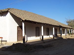 Linares Province - A typical, well-preserved, colonial-style rural house in the village of Nirivilo, San Javier comuna, Chile