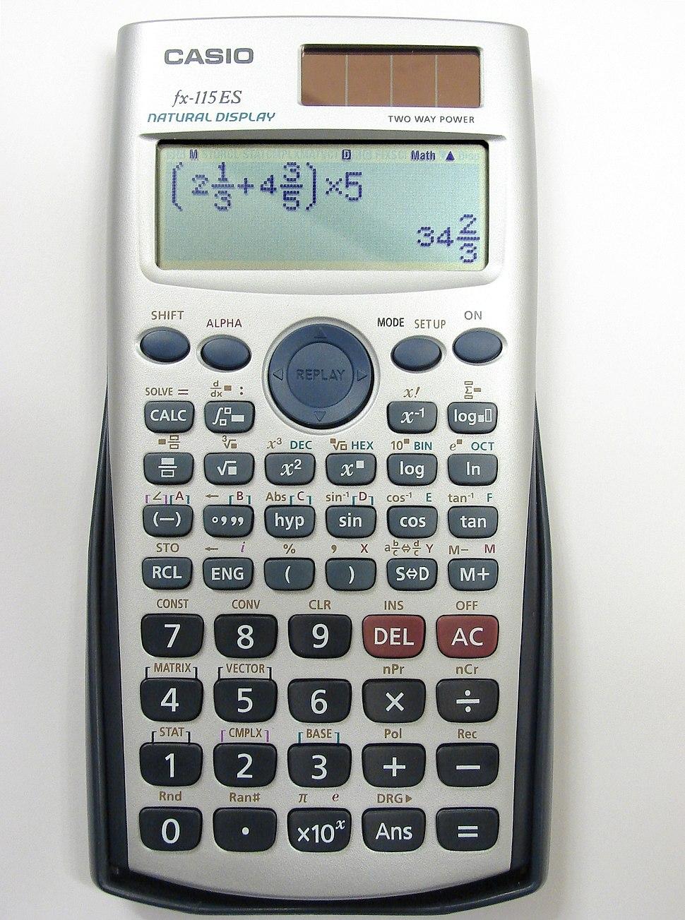 Casio-fx115ES-5564