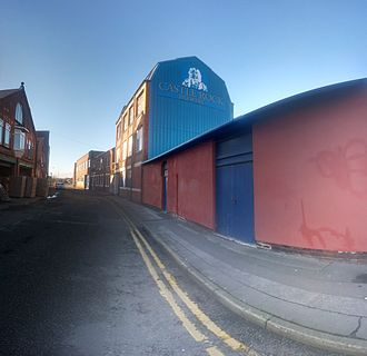 Castle Rock Brewery - A panoramic image of the brewery frontage.