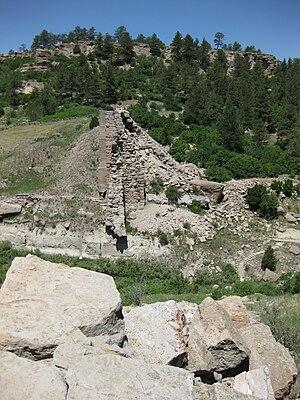 Castlewood Canyon State Park - Image: Castlewood Dam Remnants