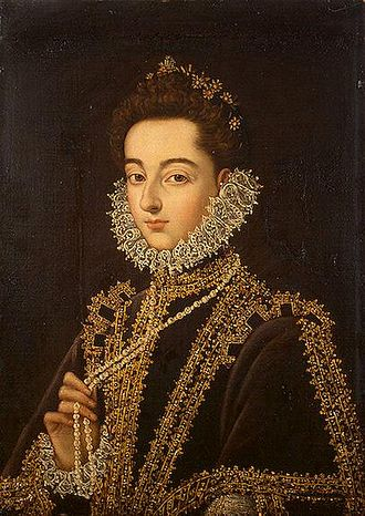 Infanta Catherine Michelle of Spain - Portrait by Alonso Sánchez Coello