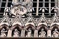 Cathédrale de Strasbourg, façade, Christ en majesté et galerie des apôtres.jpg