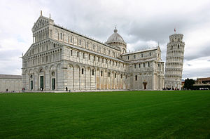 Pisa Cathedral - The cathedral, with the Leaning Tower of Pisa