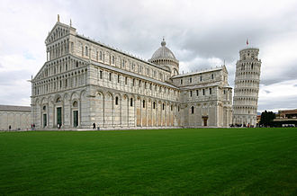 Pisa Cathedral - The cathedral, with the Leaning Tower of Pisa.