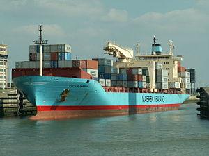 Cecilie Maersk bow Port of Antwerp 13-Sep-2005.jpg