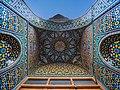Ceiling of interance of a room in Atabaki sahn in Fatima Masumeh Shrine, Qom,Iran3.jpg