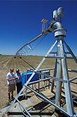 The hub of a center-pivot irrigation system.