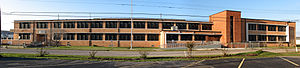 Central High School (Galveston, Texas) - The current Central Middle School building, formerly Central High School
