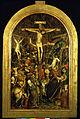 Cerchia di jean bapteur, crocifissione con donatrice, 1440-45.JPG