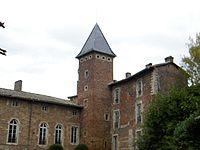 Château de la Bâtie (Ain) , vue de la haute cour.jpg