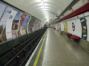 Chancery Lane tube station - Image: Chancery Lane stn eastbound