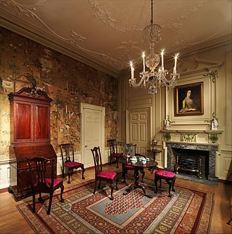 Powel House - Powel House Parlor, as installed in the Metropolitan Museum of Art.