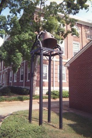 Morehouse College - Historic Chapel Bell outside of Sale Hall.