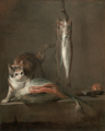 Chardin - Still Life with Cat and Fish, 1728.png