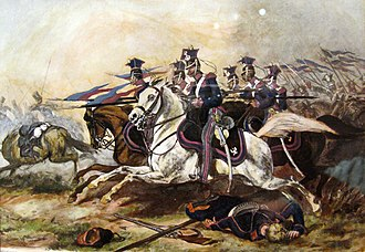 Lancer - Charge of the Polish uhlans at the city of Poznań during the November Uprising 1831