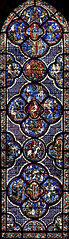 vitrail du Bon Samaritain baie 44 Cathédrale Notre-Dame de Chartres France